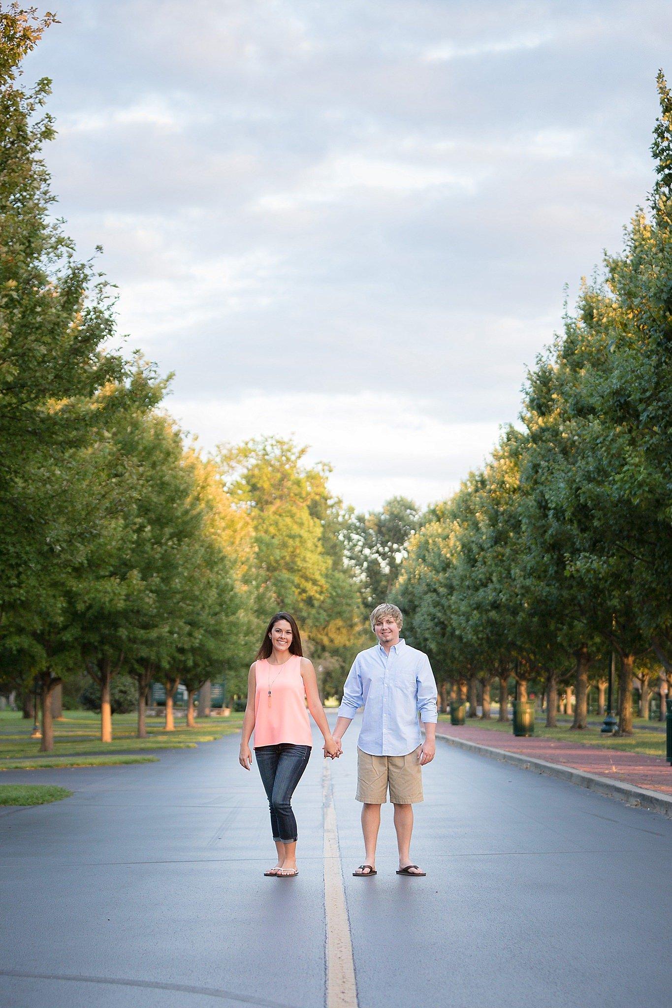 Lexington Kentucky Engagement Session - Keeneland
